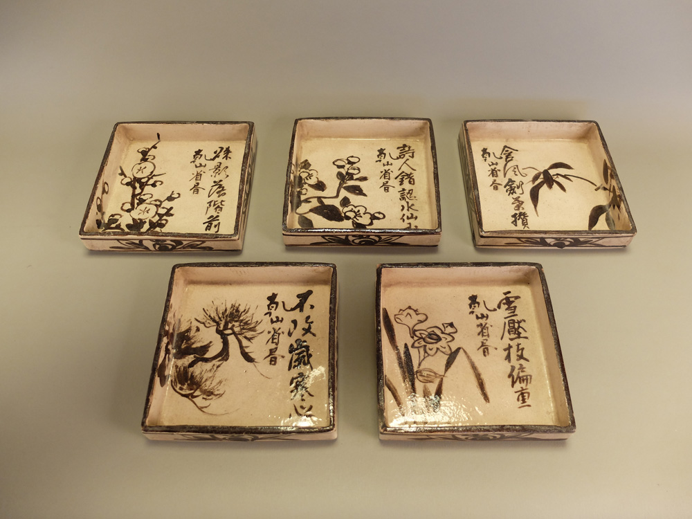Ogata Kenzan, Square Dishes with Various Designs